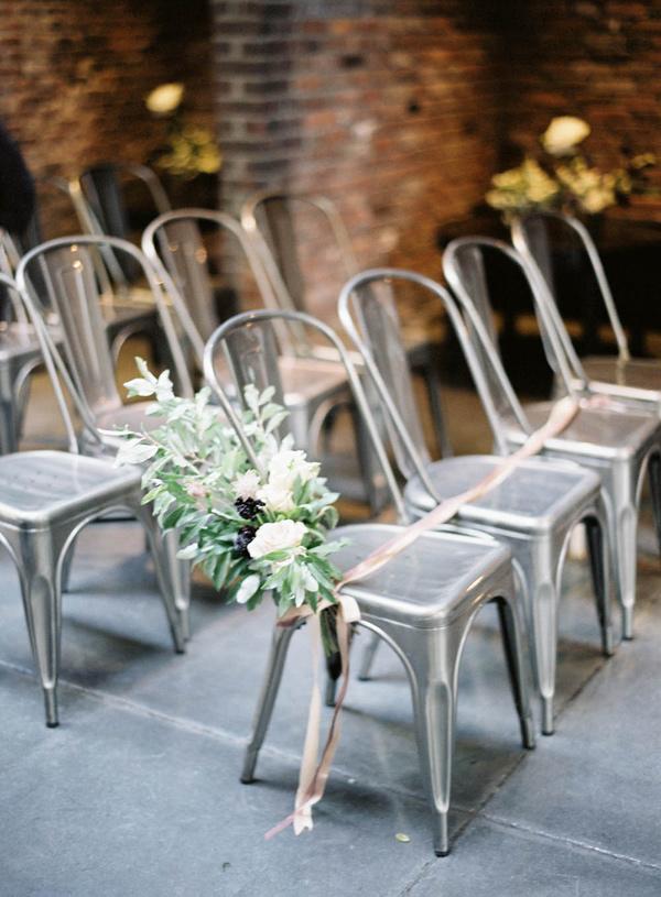 Statement wedding tolix chairs