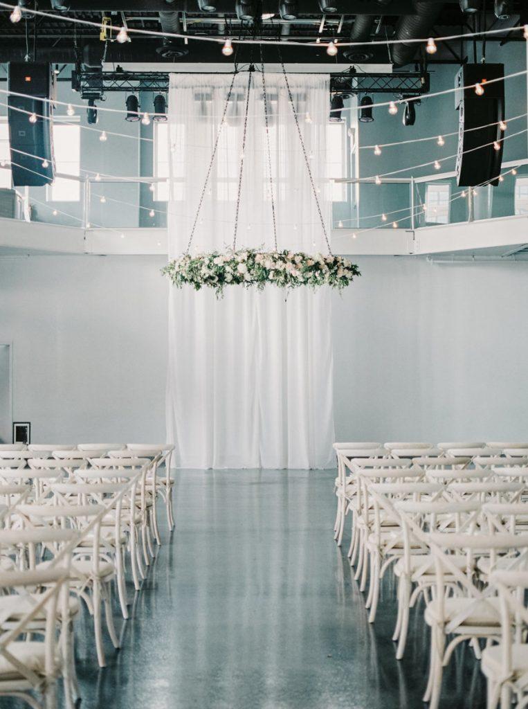 Statement wedding, white, style, hanging installation