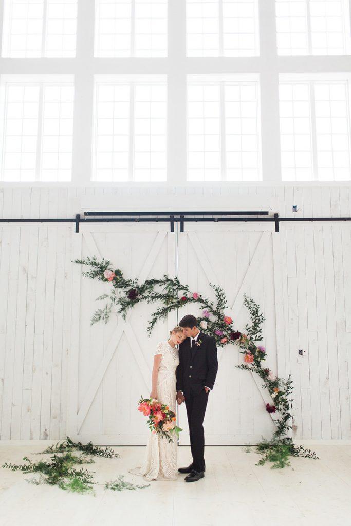 Statement wedding florals decor