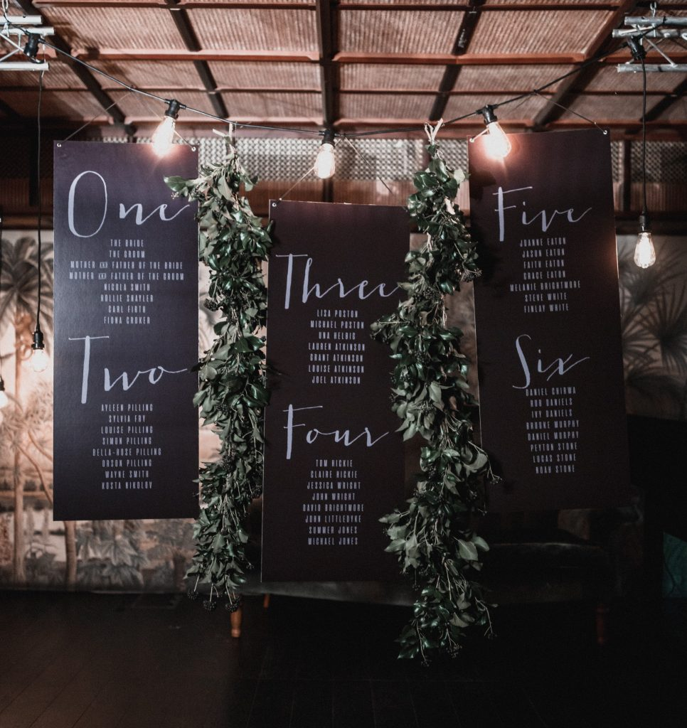Table plan inspiration